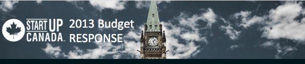 Startup Canada budget response